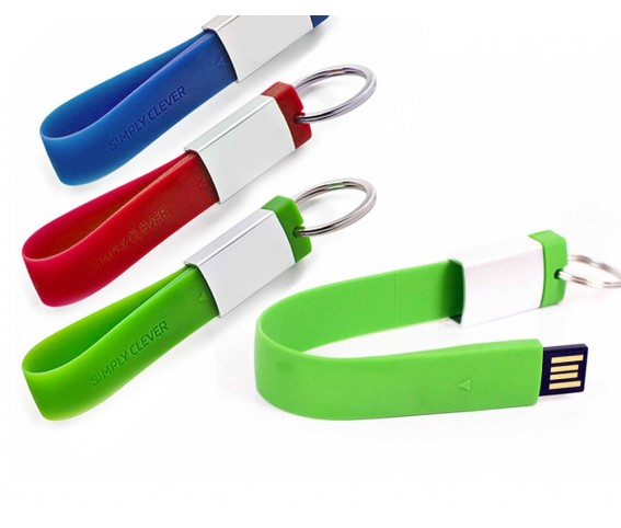 Silicone Rubber Keyring with USB