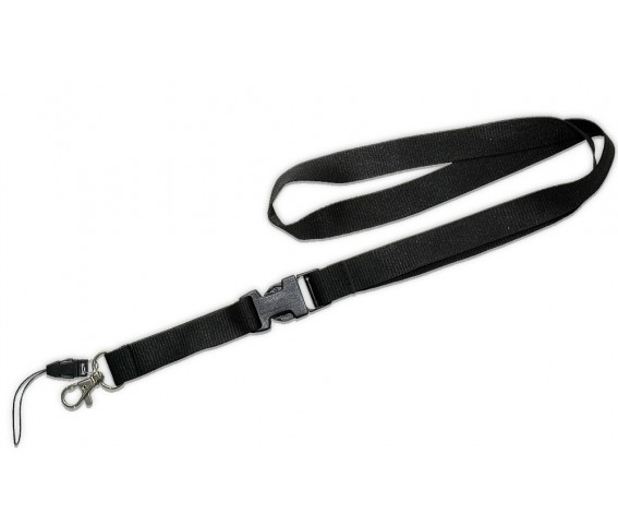 Lanyard with Detachable Buckle Black