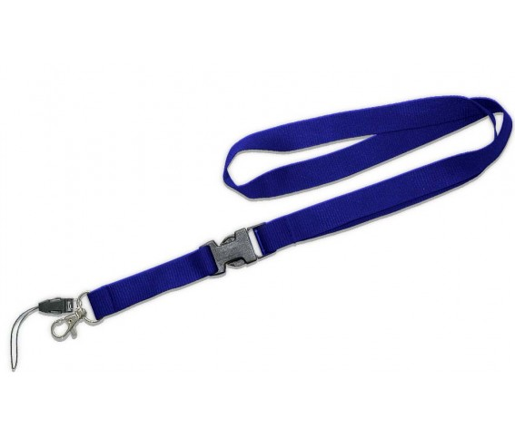 Lanyard With Detachable Buckle Royal Blue