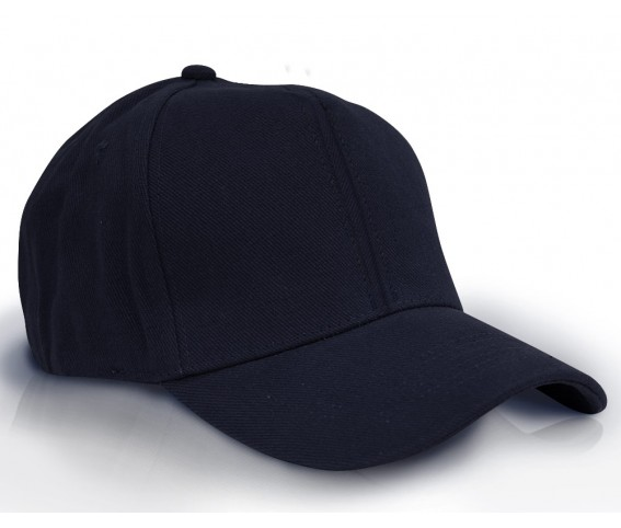 Heavy Brushed Cotton Cap 6 Panels Dark Navy Blue