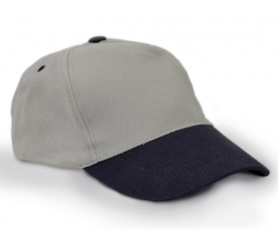 Heavy Brushed Cotton Cap 5 Panels Grey Navy Blue