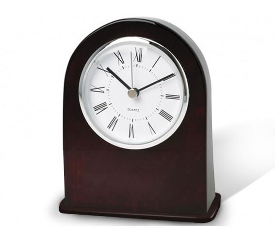 Wooden Analog Desk Clock with Alarm