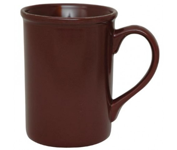 Coffee Mug Ceramic Berliner Burgundy Tall