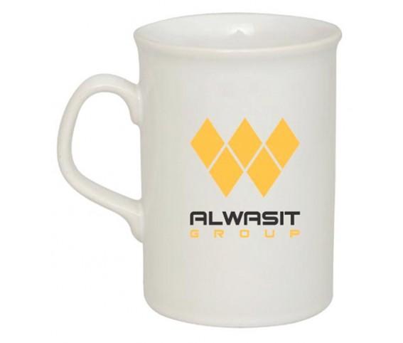 Coffee Mug Ceramic Berliner White Tall