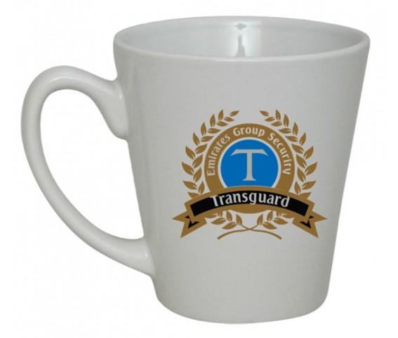 Coffee Mug Ceramic Conical White
