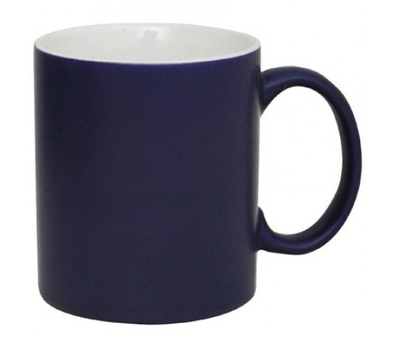 Coffee Mug Ceramic Matt Dark Blue Matrix
