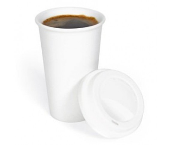 Double Wall Ceramic Cup/Tumbler/Mug with Silicon Lid