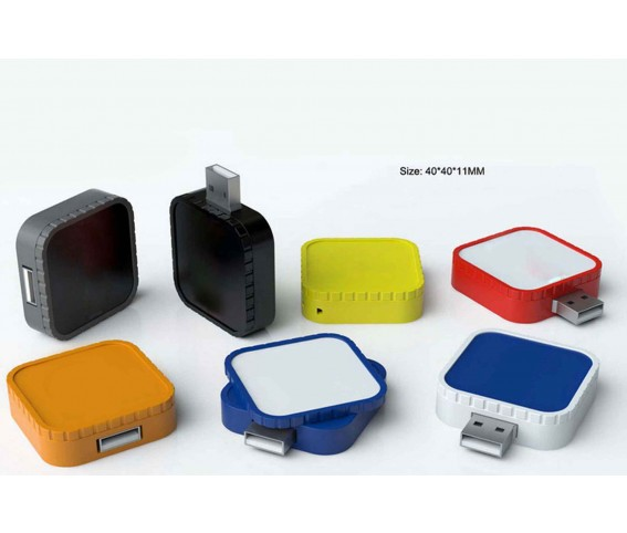 Promotional Square Twist USB Flash Drive with Printing
