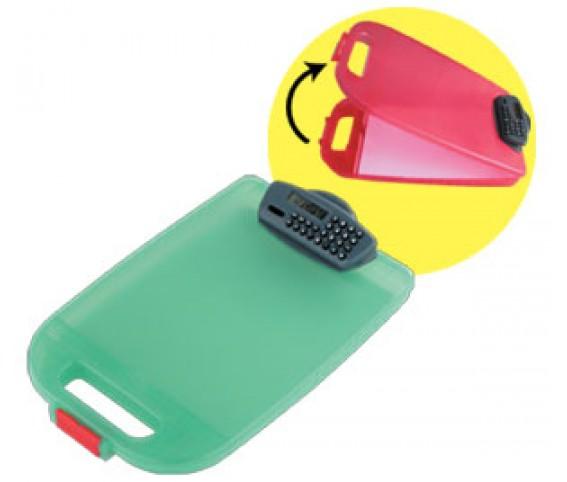 File box with clip calculator