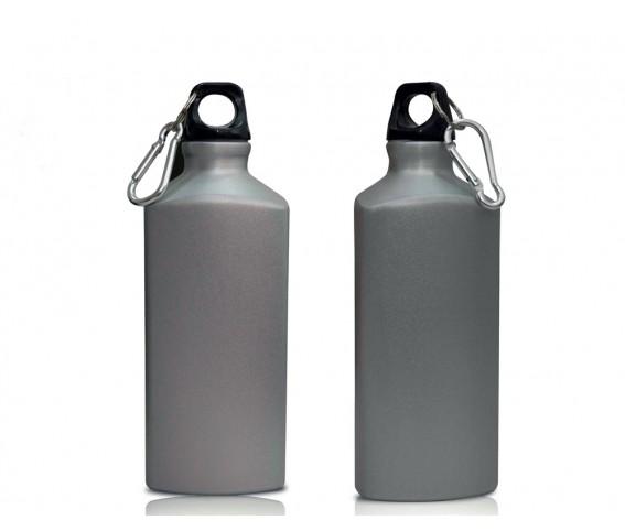 Hans Larsen Aluminium Water Bottle with Carabiner 500 ml - Silver
