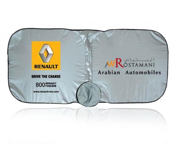 Car Sunshade Nylon Silver Black - Square Shap