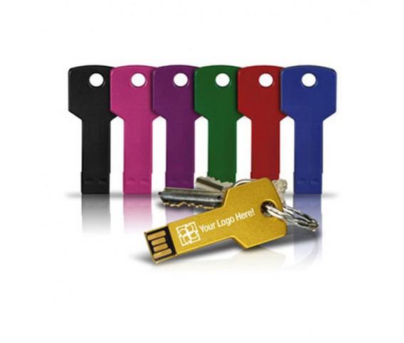 Key Shape Metal USB Flash Drive & Key ring with Logo Printing