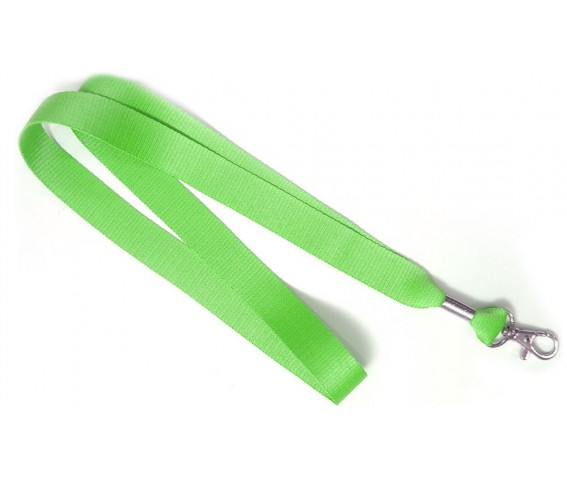 Lanyard Nylon with Metal Hook Green