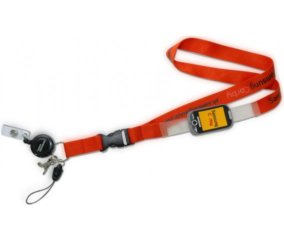 Lanyard With Soft PVC Patch Red