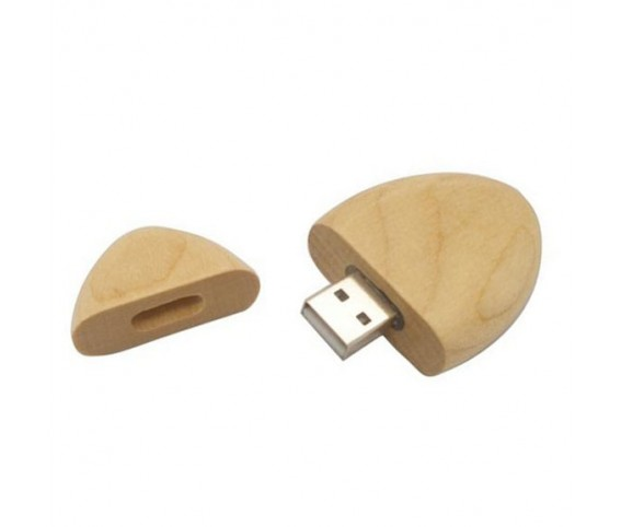 Oval Wooden USB Flash Drive