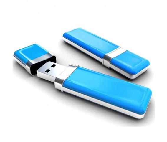 Plastic Blue USB Flash Drive