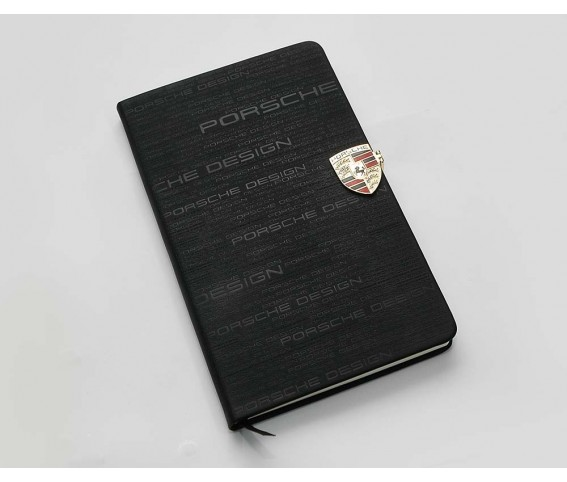 Notebook Porsche with Magnetic Metal Badge
