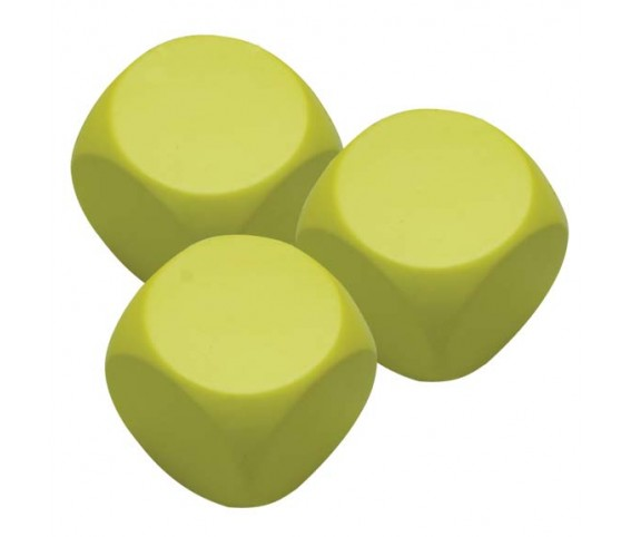 Pu Stress Ball - Yellow Square