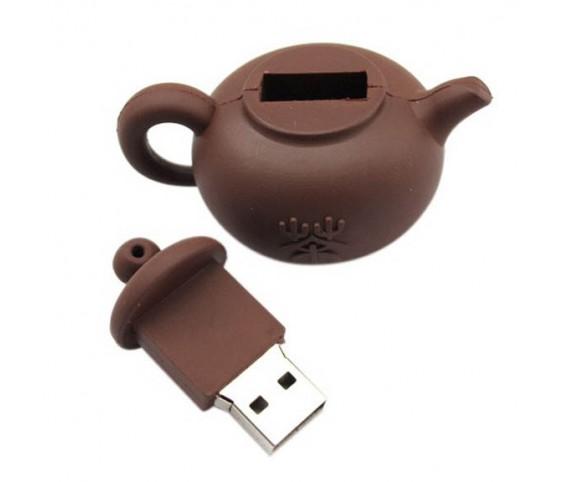 PVC tea pot design USB Flash Drive
