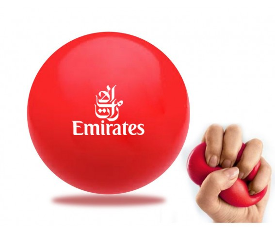 PU Stress Ball Round Shape Red Color