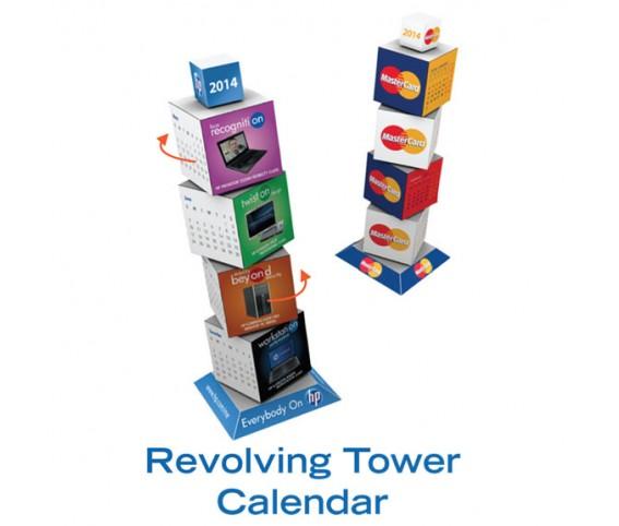 REVOLVING TOWER CALENDER CUBE