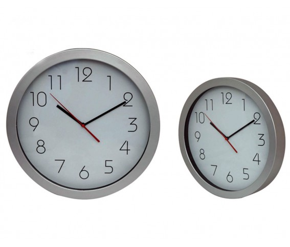 Sliver Wall Clock Round Shape