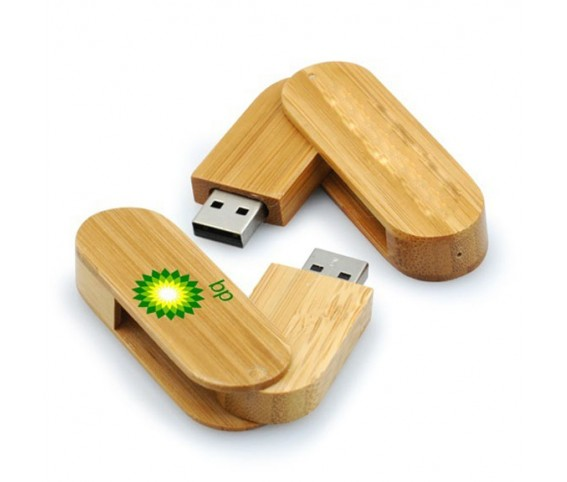 Wooden Twisted USB Flash Drive