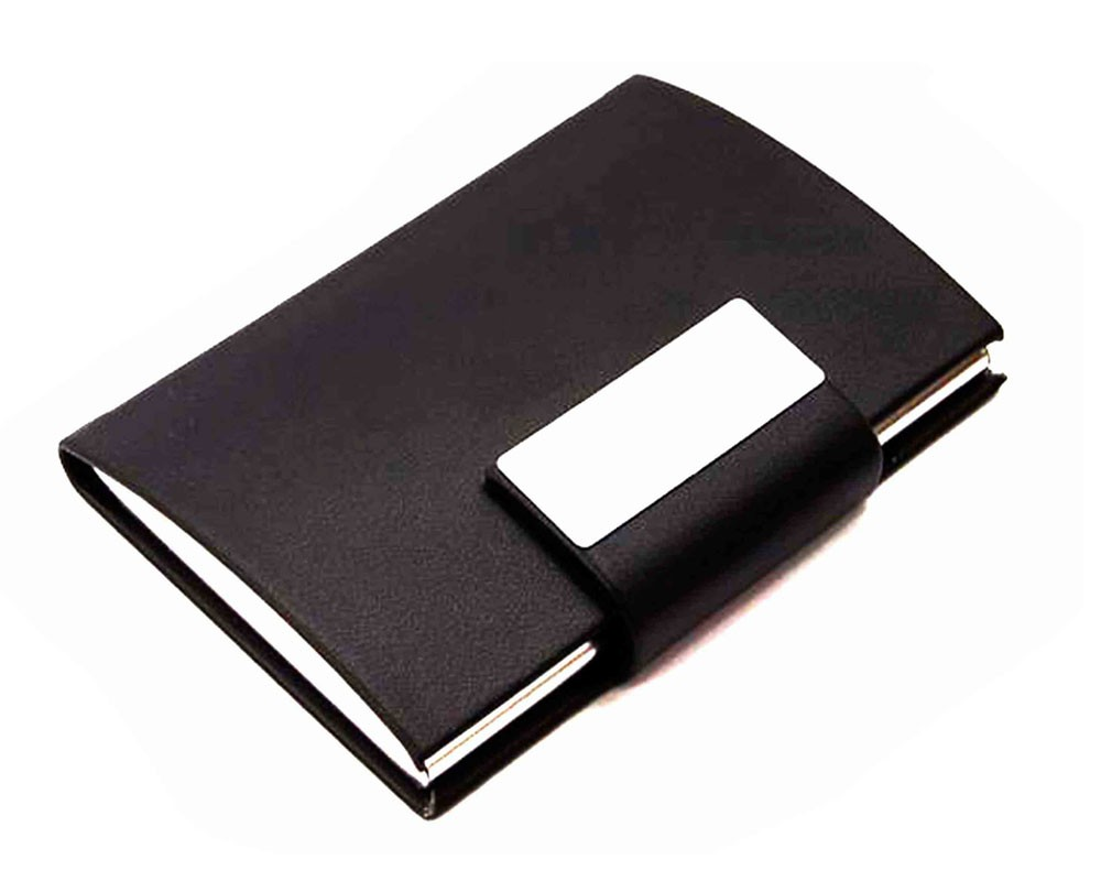 Business card holder with metal engravable name card keeper business card holder with metal engravable colourmoves