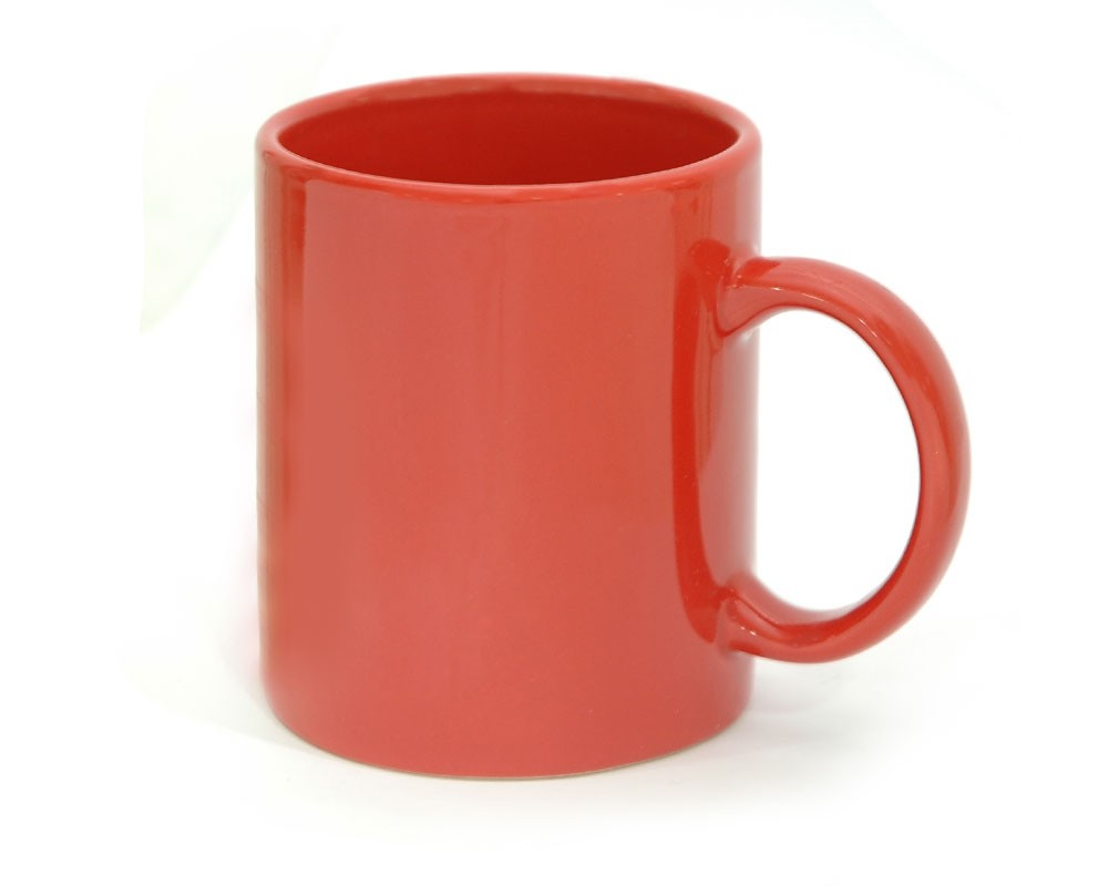 coffee mug ceramic full red color regular coffee cup cheapest