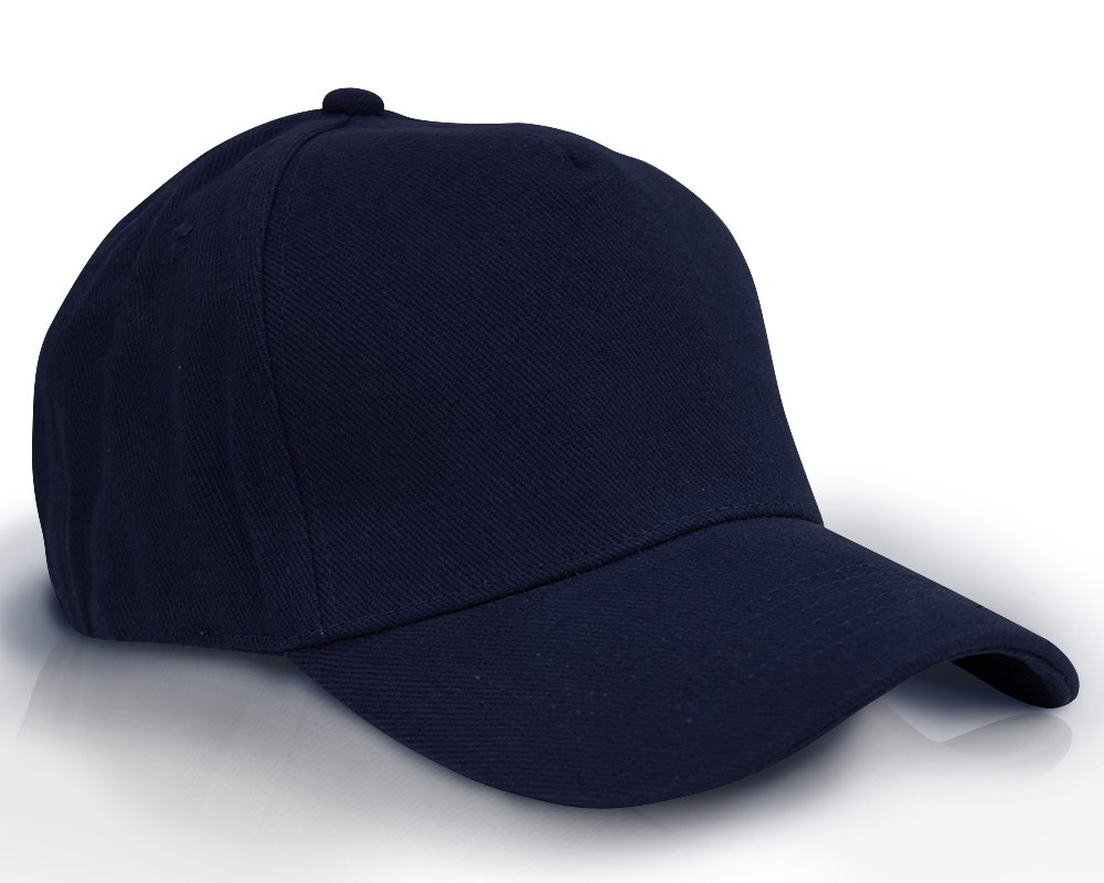 532f326b2ca Heavy Brushed Cotton Cap 5 Panels Full Navy Blue