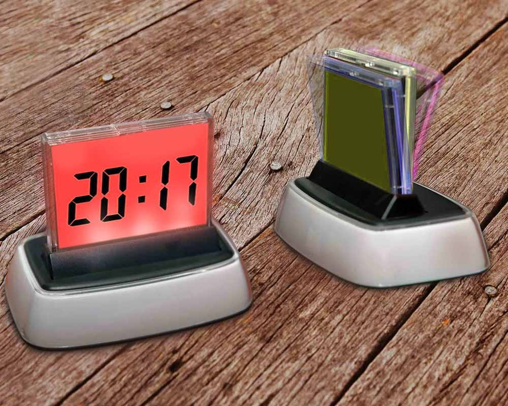 Digital Desk With Calendar Clock Led Display Multi Color Wall