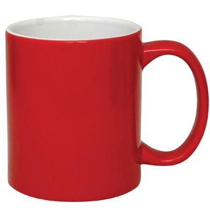 Ceramic Coffee Mug Red Inner White With Logo Printing Description Details