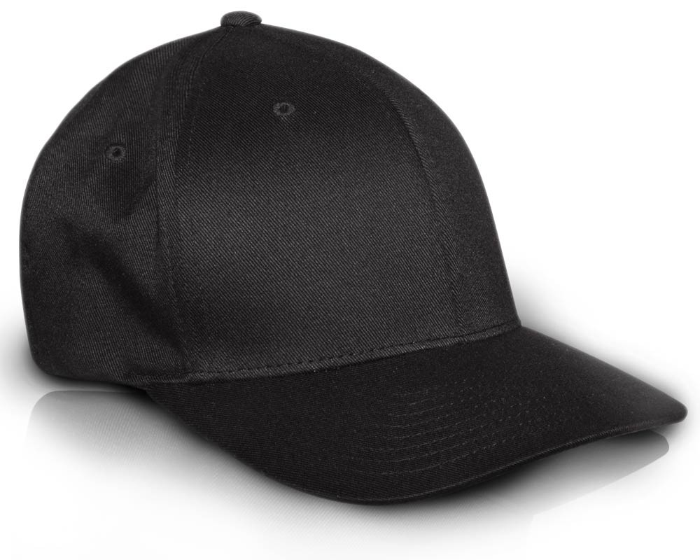 67ea7ee59a7 Flexfit Cap 6 Panel Cool n Fit Plain Black