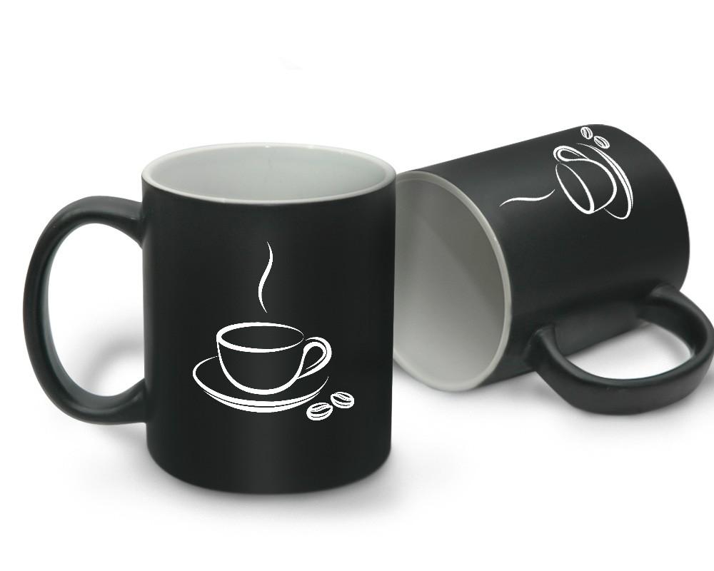 matte coffee mug black with inner white with logo printing regular