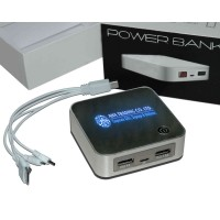illuminated Power Bank LED Display with Dual USB Port