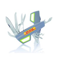 XD Design Tovo Multi function Pocket Knife Grey & Green with Logo Printing