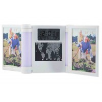 Desk Photo frame With Digital Clock,  & Calendar Foldable