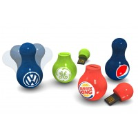 Bulb Shape USB Flash Drive with Logo