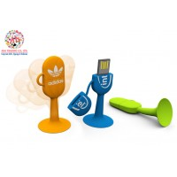 Customized Silicon Flexible USB Stick with Sucke