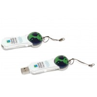 Customized Liquid Crystal Earth Ball USB Flash Drive