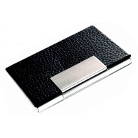 PU Leather & Metal Card  Holder