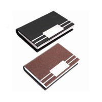 Card Holder PU Leather ID Card Pocket Case Box Keeper