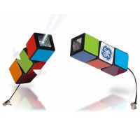 Rubik's Cube Mini LED Torch Keychain