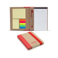 Recycle Notebook with Pen & Sticky notes