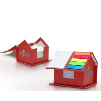 Sticky Notepad & Notes Holder House Shape