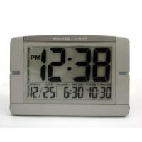 Jumbo Digital Dual Alarm Desk Clock Sliver Color