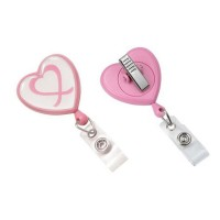 Customized Heart Shape ID Card Holder Retractable
