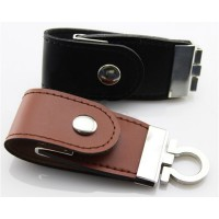 Pu Leather with Metal USB Flash Drive with Printing