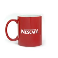 Ceramic Coffee Mug Red Inner White with Logo printing