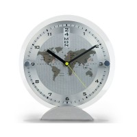 World Time Desk Clock Sliver